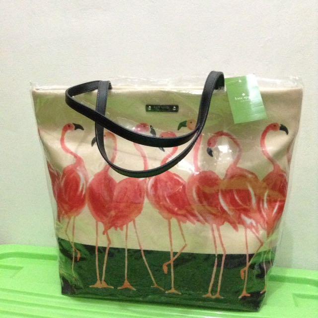 Flamingo Tote Bag By Kate Spade 100% ORIGINAL