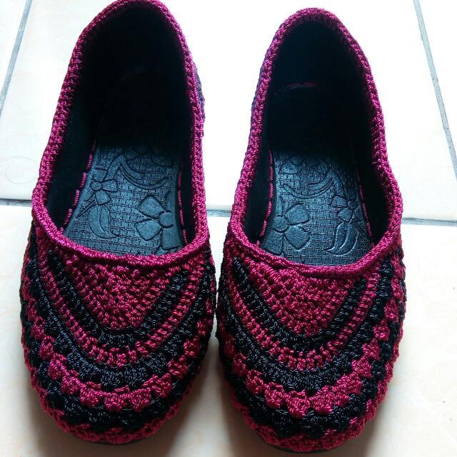 flatshoes rajut