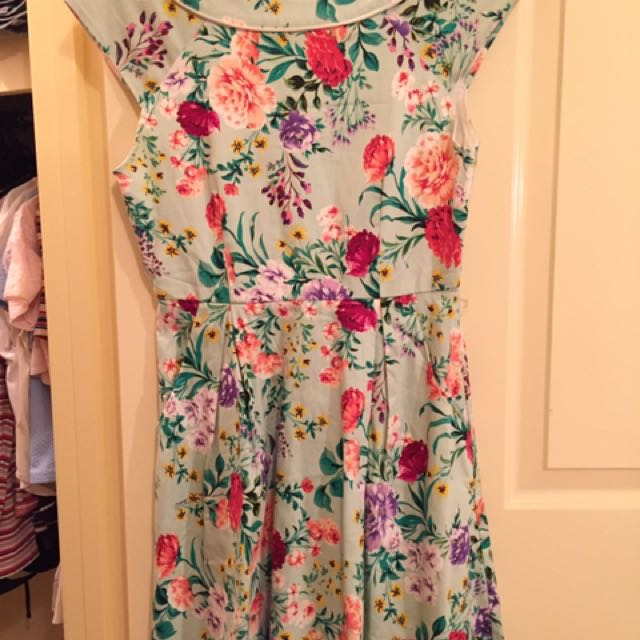 Floral Quirky Circus Dress (size 8)