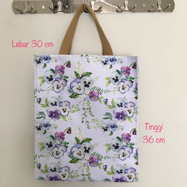 Flower Pattern Totebag