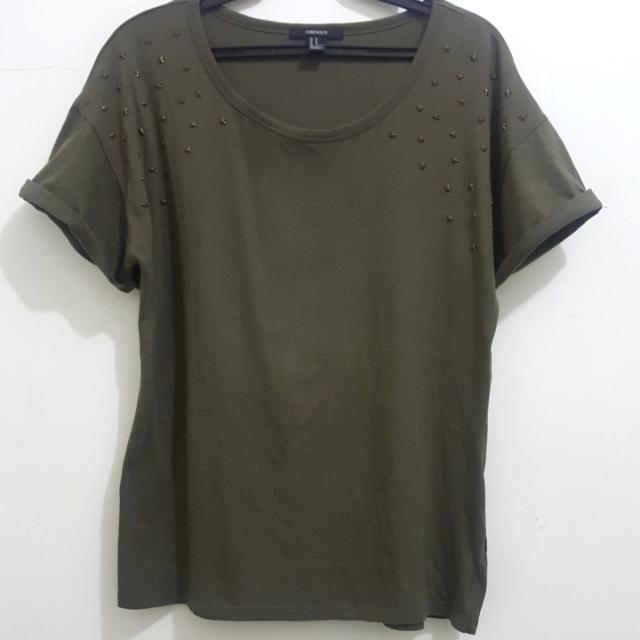 FOREVER 21 ARMY STYLE TOP