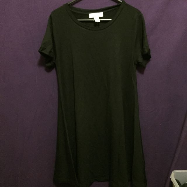 Forever 21 Black A-line Tshirt Dress Size Small