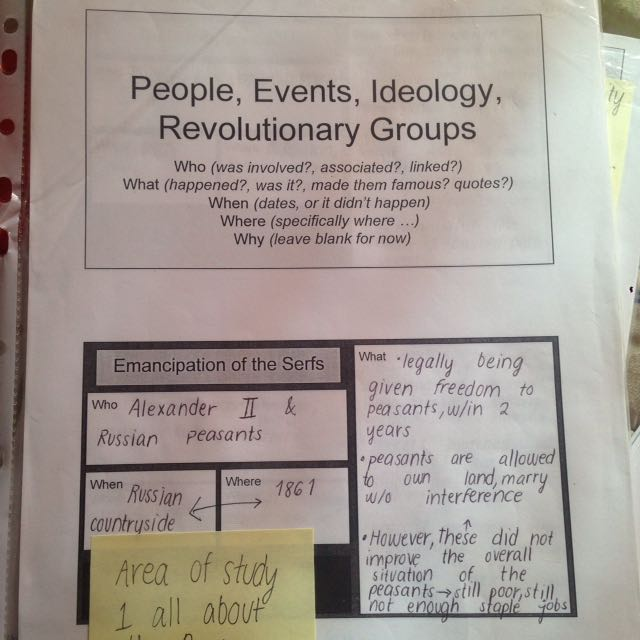 Free Russian revolution Notes