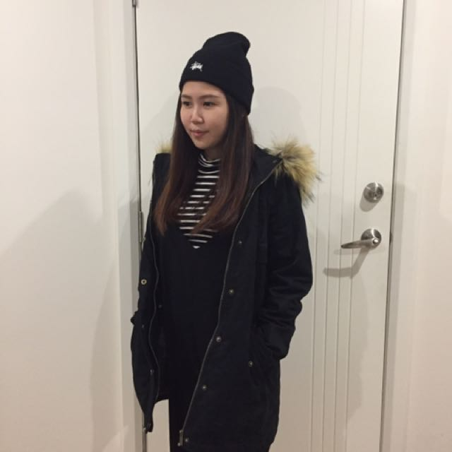 Fur Trim Parka Jacket By Ally
