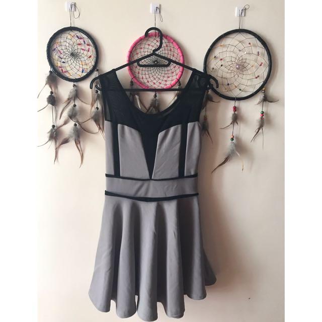 Gray/Black Cocktail Dress
