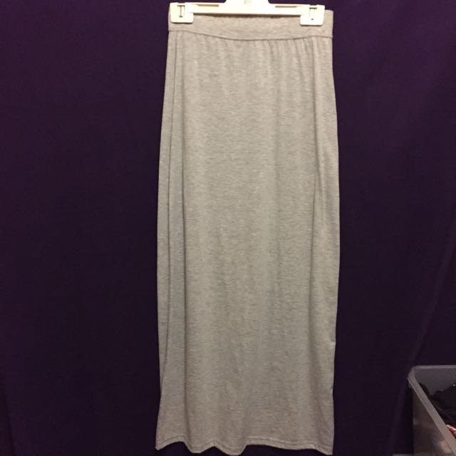 Grey Maxi Skirt Size 10