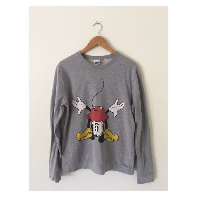 Grey Mickey Mouse Jumper | Size Medium