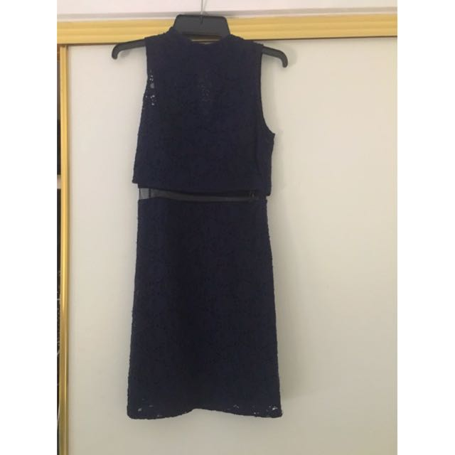 GUESS Dress Navy Size 0