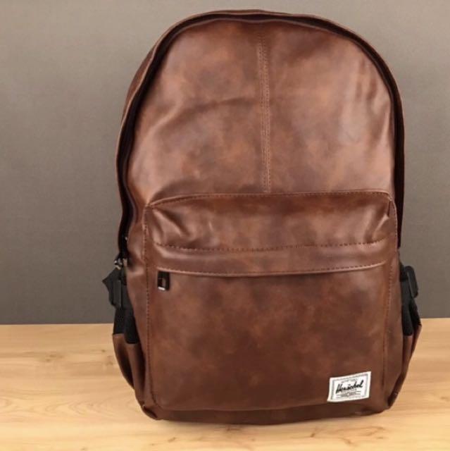 fa34ad1fa5b1 Herschel Leather Bag School Bag Water bottle Holder Computer Bag ...