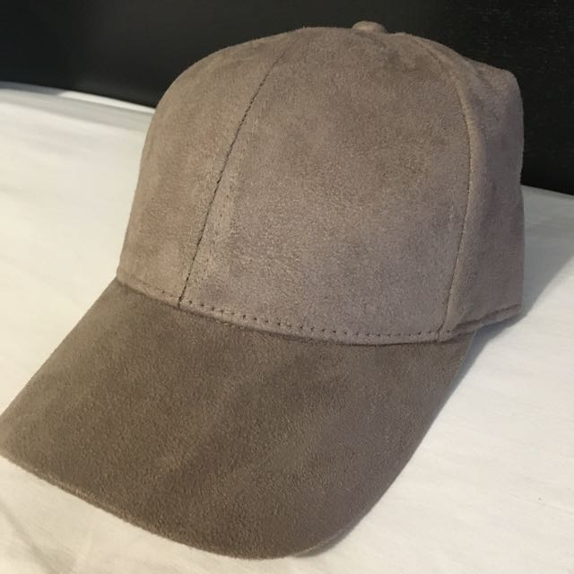 H&M Suede Taupe Hat