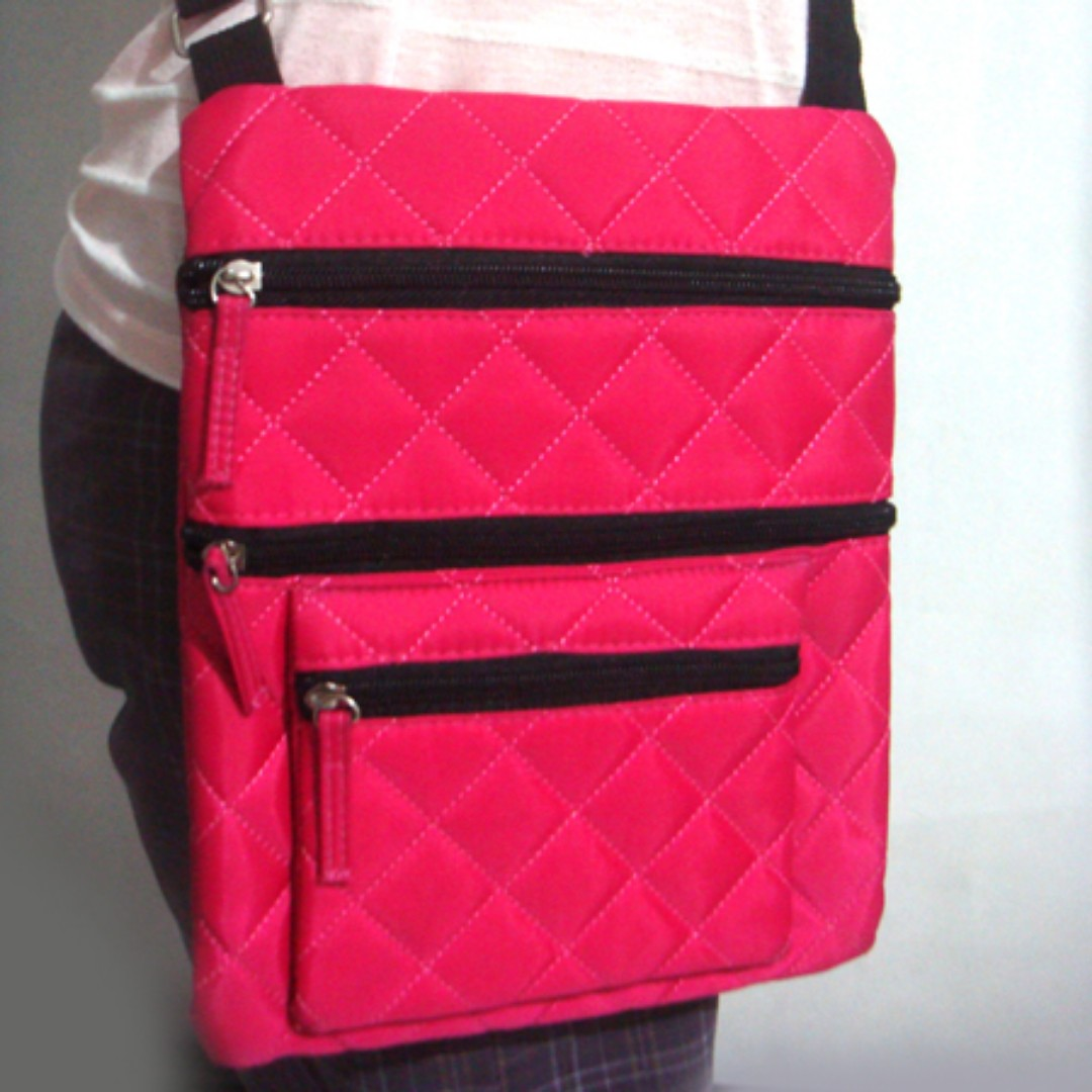 Human Pink Sling Bag
