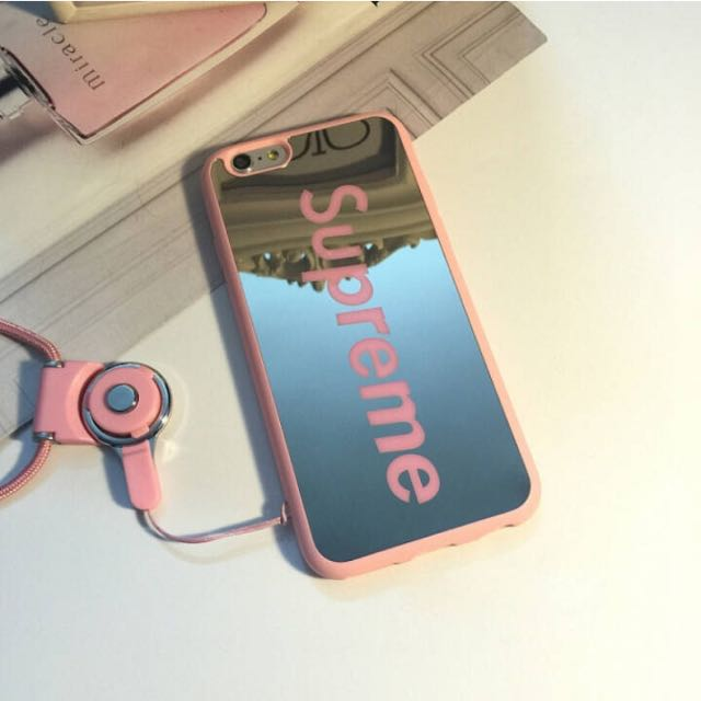 finest selection 435ac 61c1a IPHONE6/6S MIRROR CASE SUPREME PINK