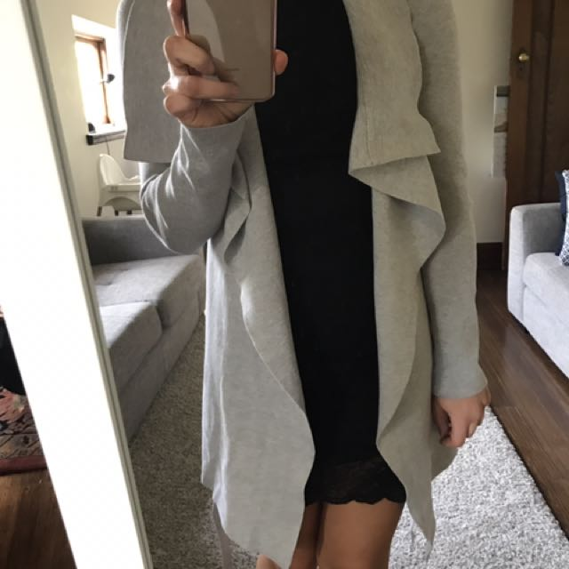 Jacket Cardigan Knit Grey