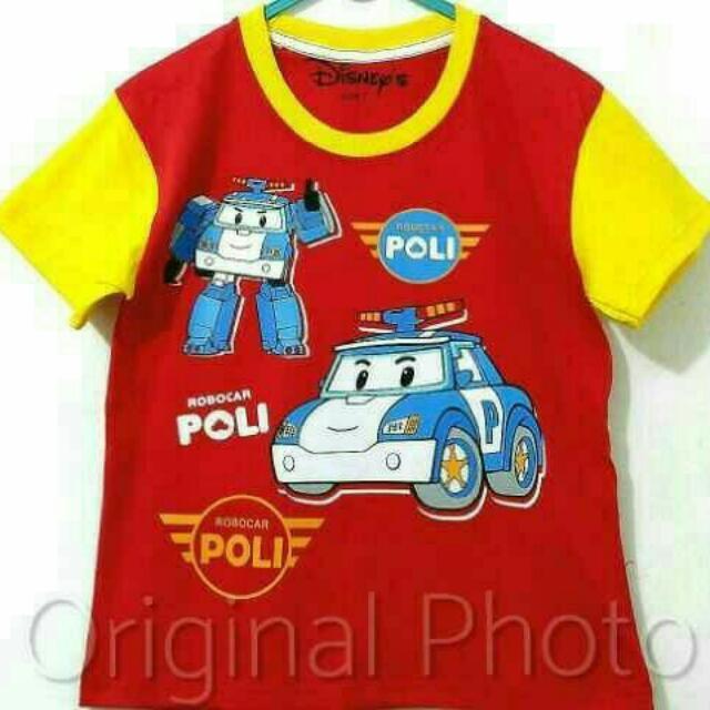 Kaos Anak Robo Car 001