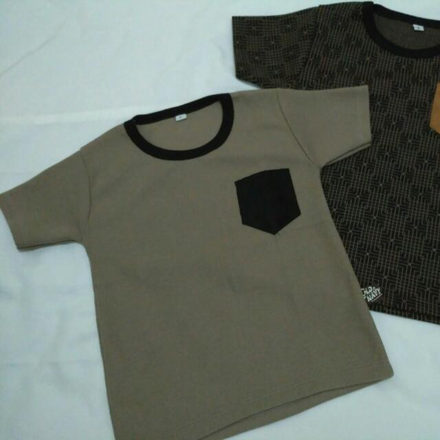 Kaos old navy warna coklat size 2-3 thn
