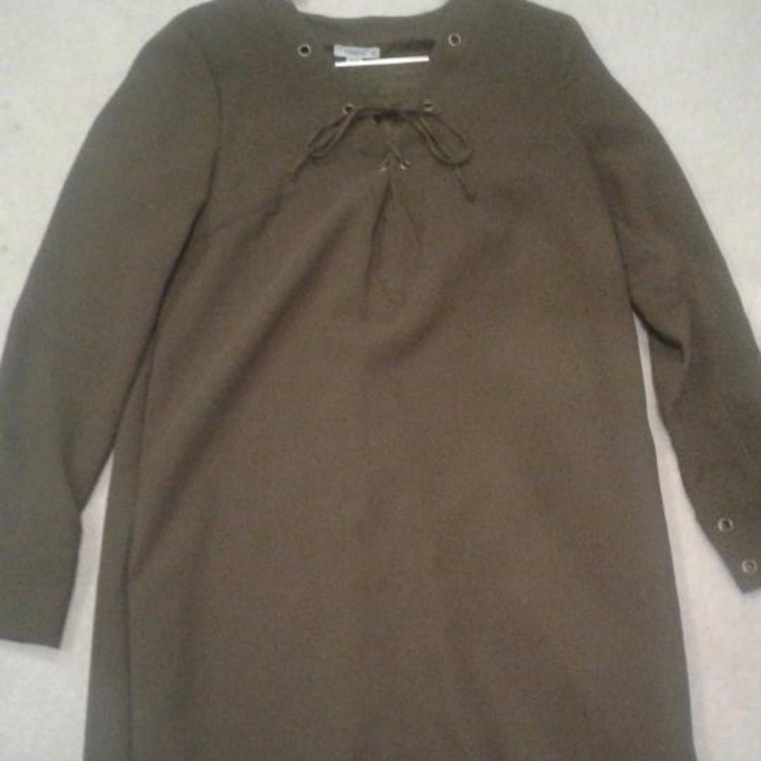 Kookai Army winter dress