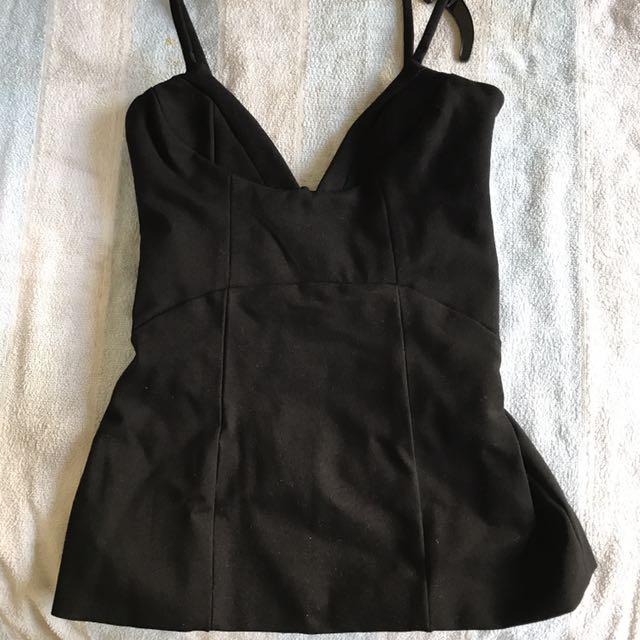 Kookai Black Structured Top