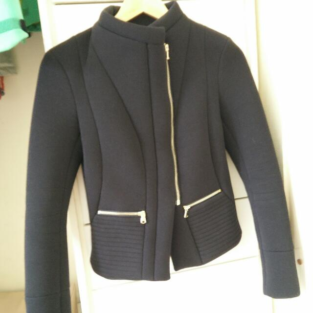 Kookai Black Winter Jacket Size 34