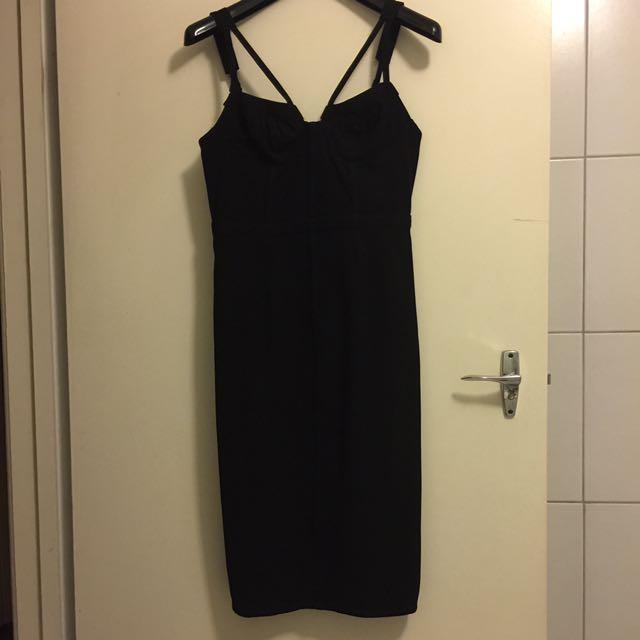 LADAKH midi Dress - Ribbing Corset Look S8
