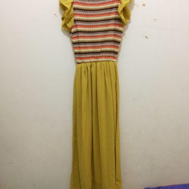 long dress kuning