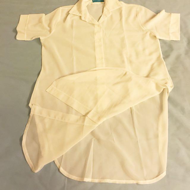 Long shirt Dress ( Genevieve Gozum)