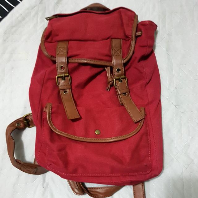Maroon Backpack