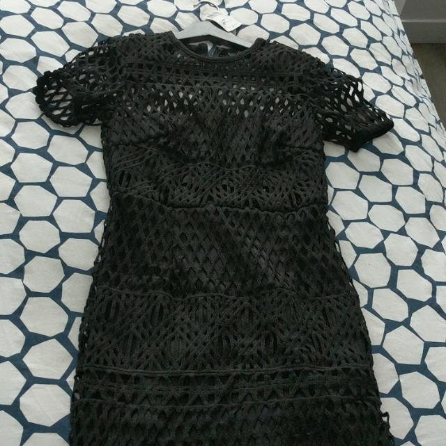 Mesh 'Black' Knit Dress