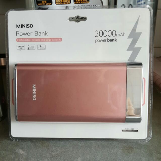 Miniso Power Bank 20000mah Electronics Others On Carousell