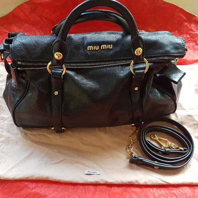 Miu Miu By Prada BOW BAG In Black