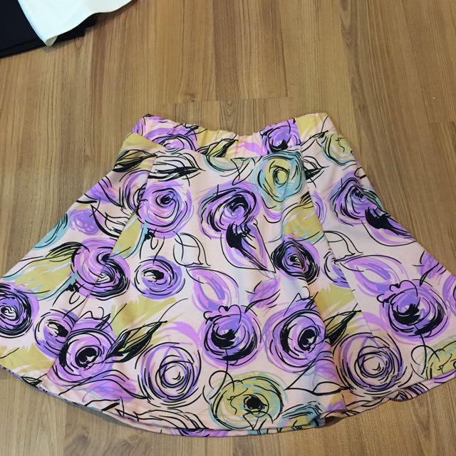 Motif Flare Skirt