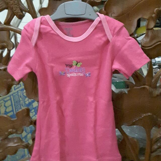 My Daddy Spoils Me Pink Carter's Shirt For 1,5 Years Old