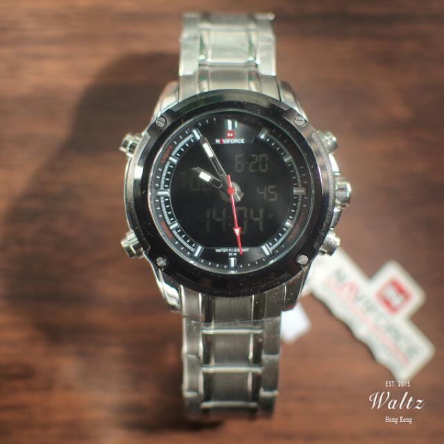 Navieforce雙顯運動型防水手錶