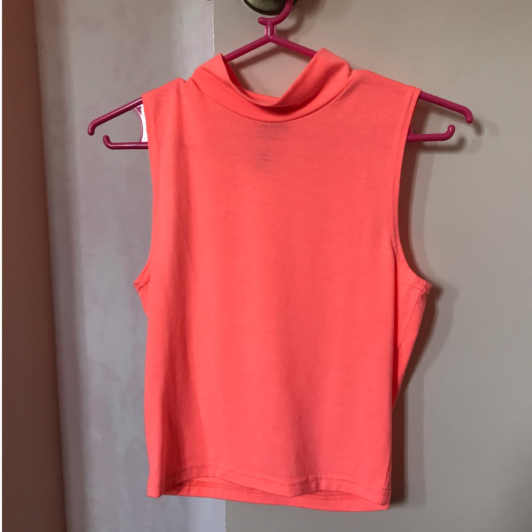 Cotton On Neon Orange Sleeveless Top