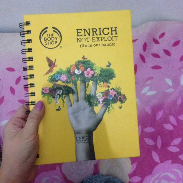 Notebook From Thebodyshop