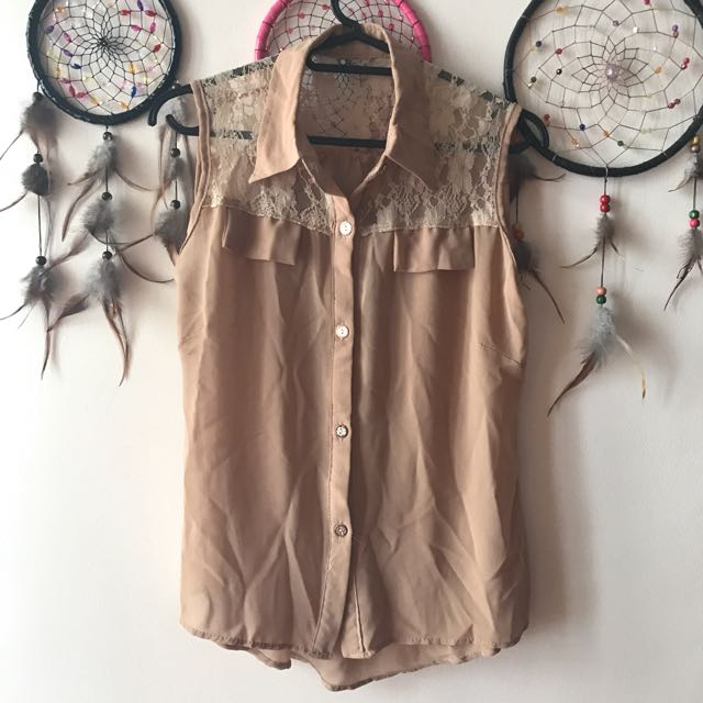 Nude Lace Blouse ❤