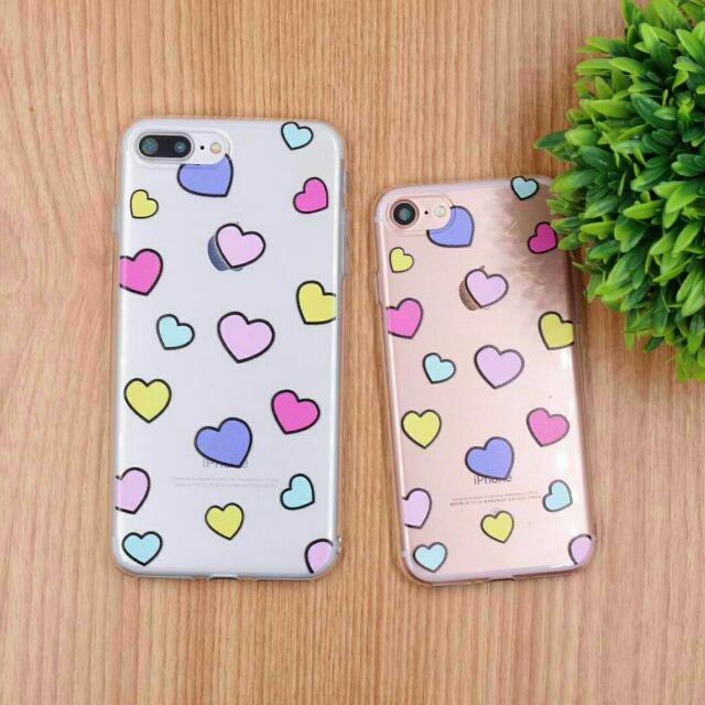 Pastel Hearts Mobile Phone Case [Apple / Samsung / Oppo]