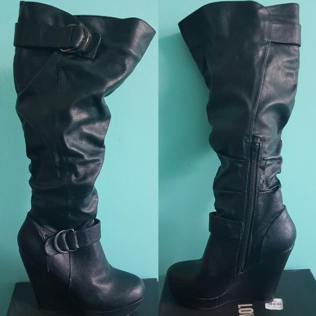 Pleather Boots