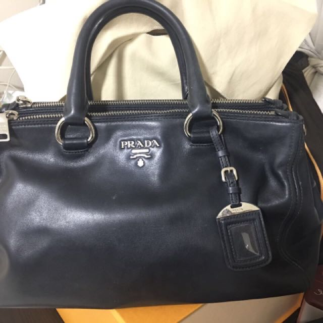 60ee8c48ecdd Prada Full Soft Calf Leather Nero Bag