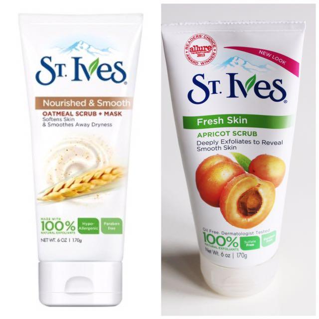 Promo!! New 170gr St Ives Fresh Skin Apricot / Oatmeal Scrub