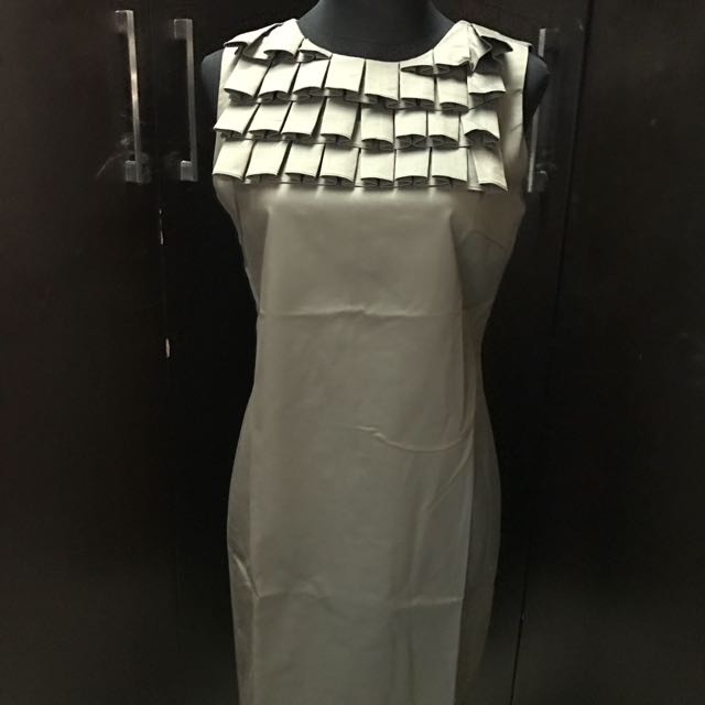 Saga Shift Dress With Ruffles