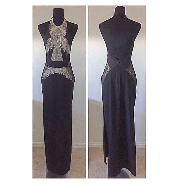 SHEIKE Amazing Backless Maxi Dress Halterneck - Size 8