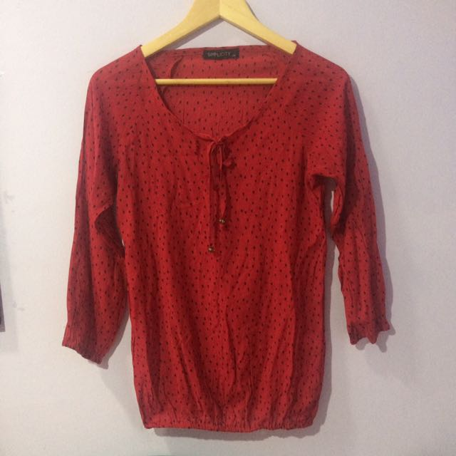 Simplicity Red Blouse