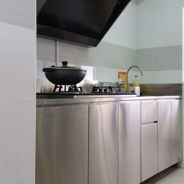 stainless steel kitchen.   customise