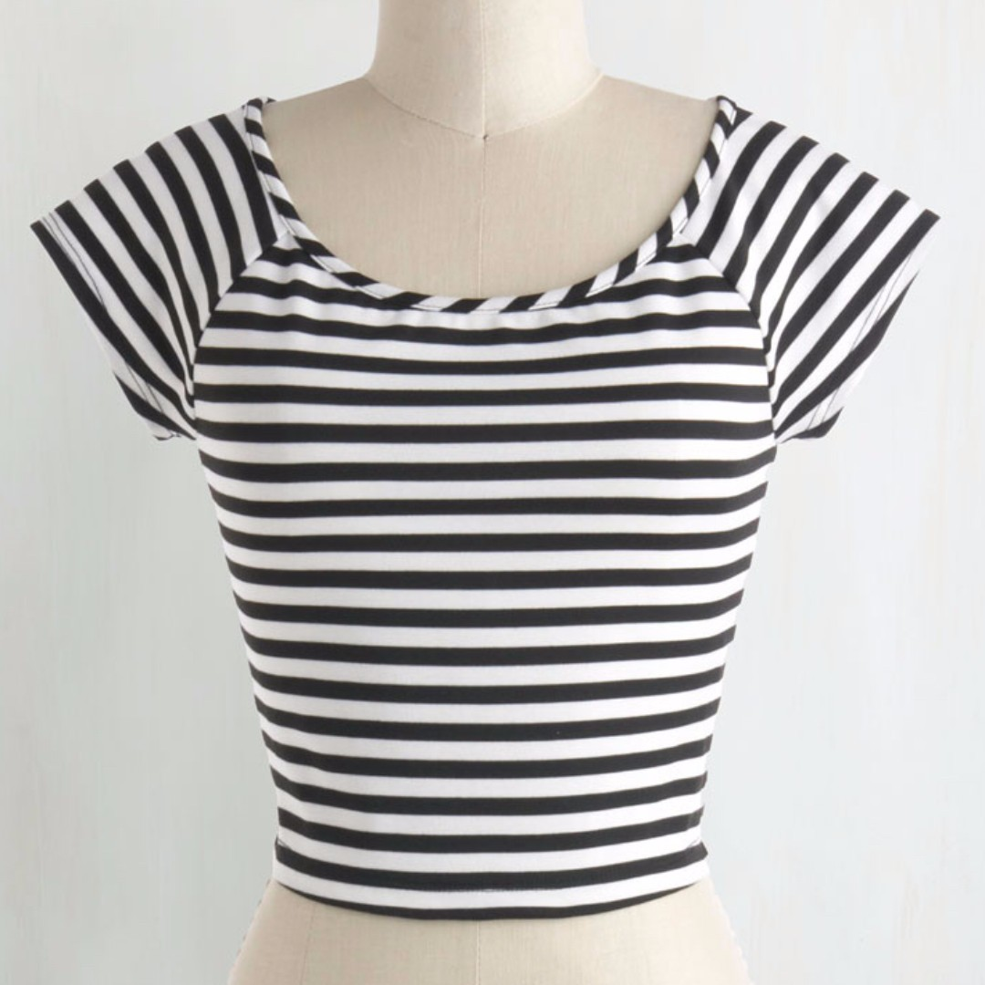 Striped crop top - Modcloth