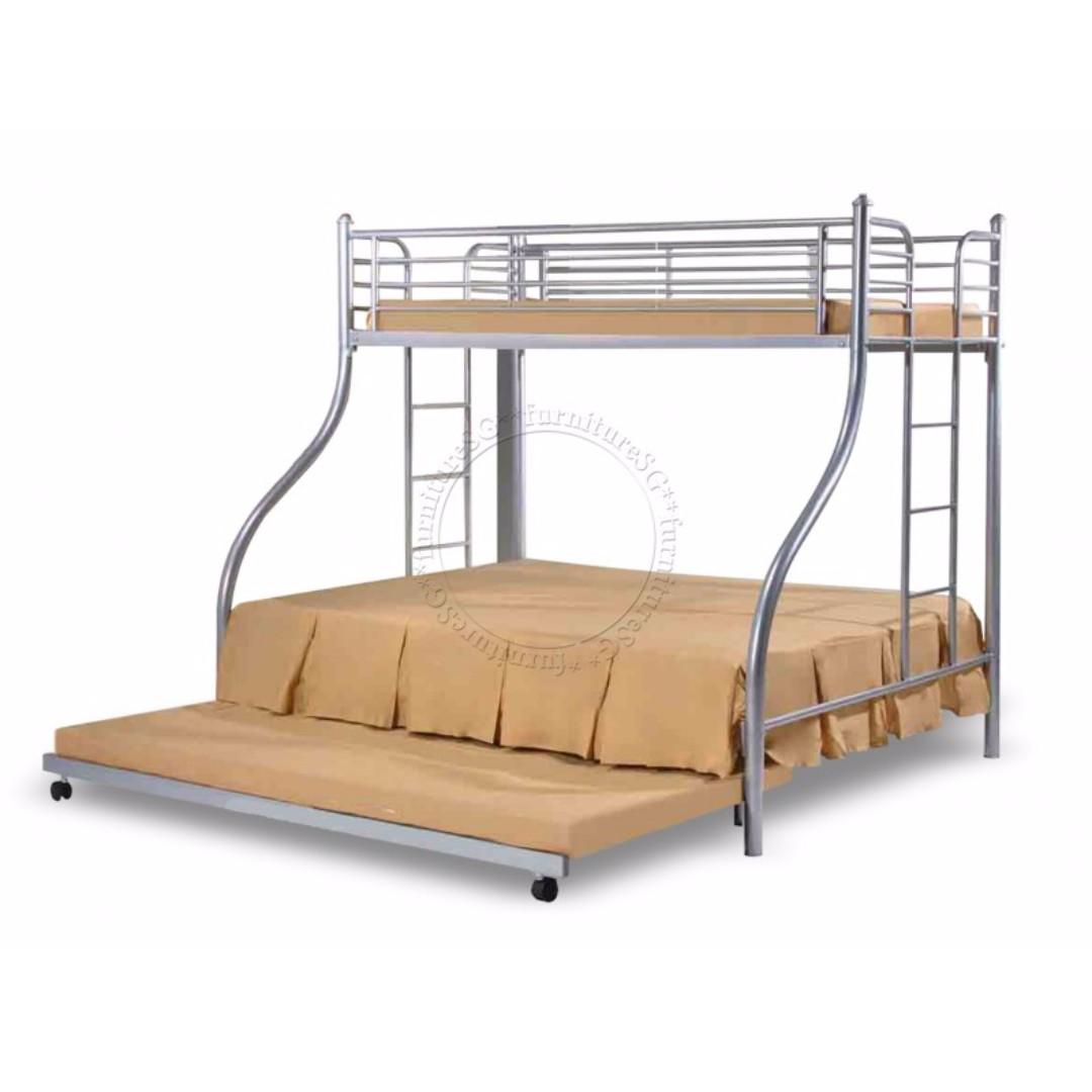 Super Metal Bunk Bed Frame Sleep 4 Person Beautiful Design