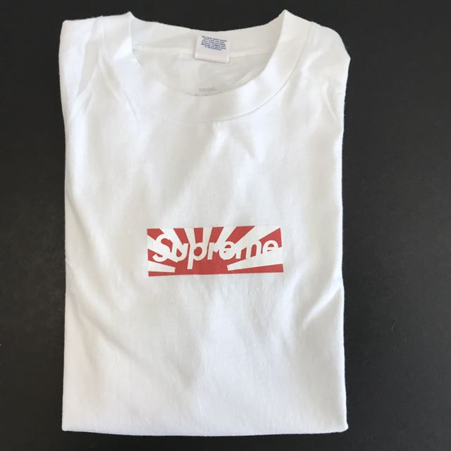 195e60a3cba0 Supreme Japan Relief Box Logo Tee (LARGE), Men's Fashion, Clothes on  Carousell
