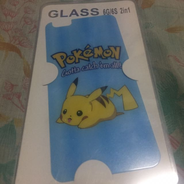 Tempered Glass Cute Little Girl And Pikachu Designs