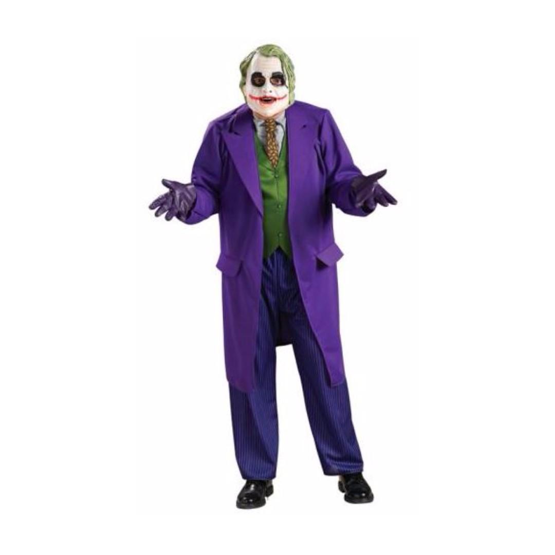 The Joker Deluxe Batman The Dark Knight Halloween Mens Fancy Adult Mask Costume