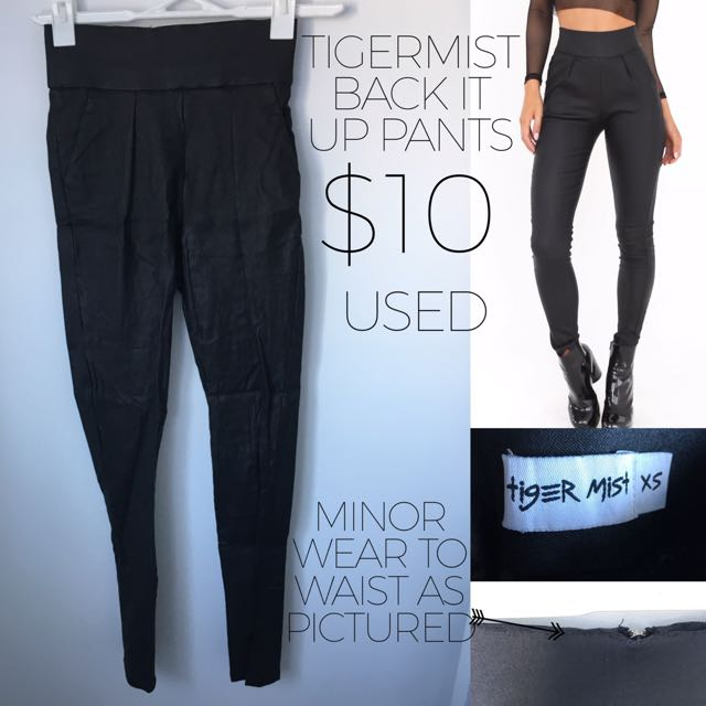 Tigermist Black Pants