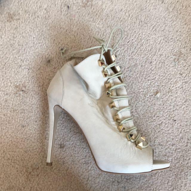 Tony Bianca 9.5 Studded Lace Up Heels